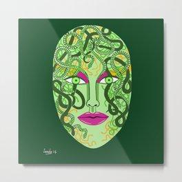 green visage Metal Print