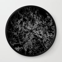 rome Wall Clocks featuring Rome by Line Line Lines
