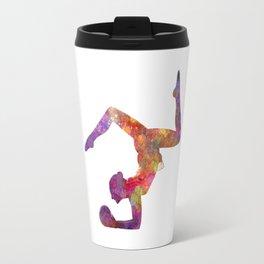 Rhythmoc Gymnastics woman silhouette Travel Mug
