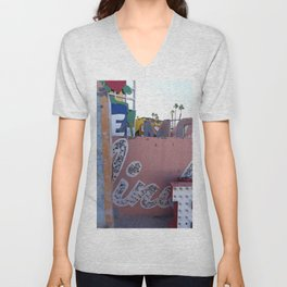 Broken Down Signs, Lights, and Colours in Las Vegas 02 Unisex V-Neck