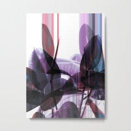 Tropical Glitches Metal Print