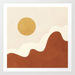 abstract minimal 40 Art Print