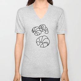 Croissants in Space Unisex V-Neck