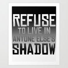 Refuse Art Print