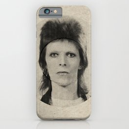 BOWIE mixed lines iPhone Case