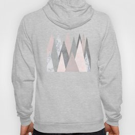 BLUSH MARBLE GRAY GEOMETRIC MOUNTAINS Hoody
