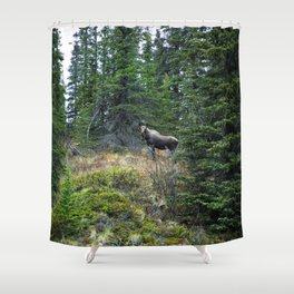 Mr. Moose Way Up North Shower Curtain