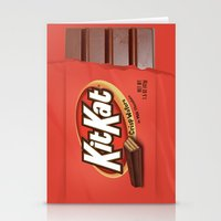 kit king Stationery Cards featuring Kit Kat by Cloz000