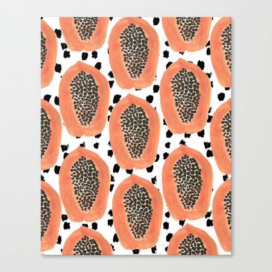 Bold Papayas Canvas Print