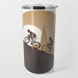 Roadbike Sunset Climbing Travel Mug