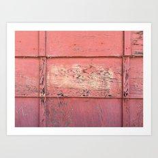 Weathered Red Siding Art Print