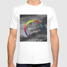 rainbow Mens Fitted Tee White MEDIUM