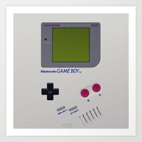 gameboy Art Prints featuring GAMEBOY by MiliarderBrown