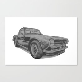Triumph TR6 Canvas Print