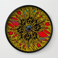 lovecraft Wall Clocks featuring Lovecraft Warp by Craig Earp