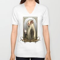 thranduil V-neck T-shirts featuring Thranduil and the Arkenstone by Alice9