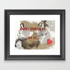 Rocky Horror - Don't Dream It... Framed Art Print