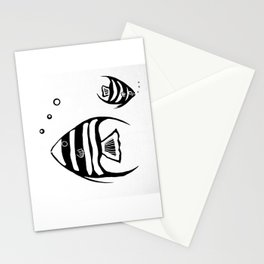 Two Angel Fish Stationery Cards