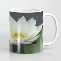rileigh smirl Mugs featuring Water Lilly by Rileigh Smirl