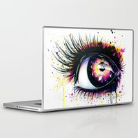 """pixies Laptop & iPad Skins featuring """"Follow me into wonderland"""" by PeeGeeArts"""