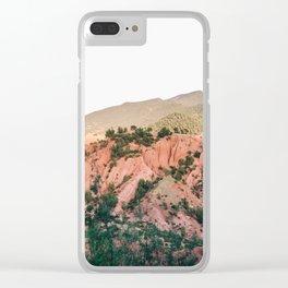 Orange mountains of Ourika Morocco | Atlas Mountains near Marrakech Clear iPhone Case