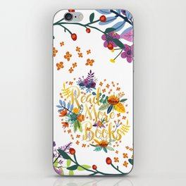 Read More Books - Floral Gold iPhone Skin