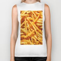 french fries Biker Tanks featuring French Fries by I Love Decor