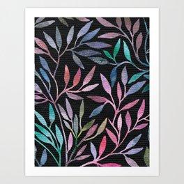 Painted Leaves 4 Art Print