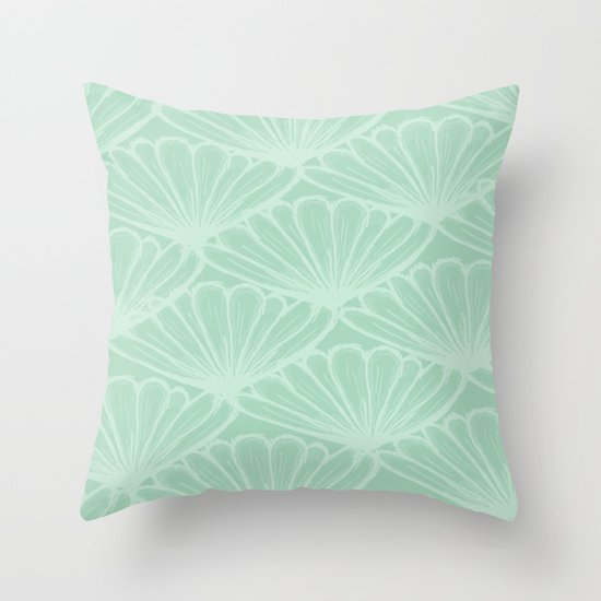 Lady in Mint Throw Pillow