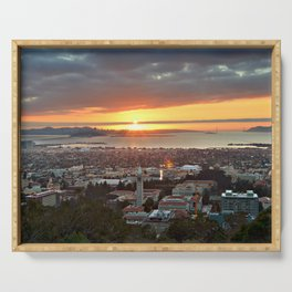 View of San Francisco Bay Area at Sunset from UC Berkeley Serving Tray