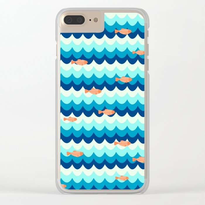 Fishes in the sea Clear iPhone Case