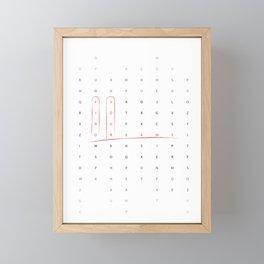 Find your dreams Framed Mini Art Print