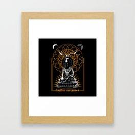 Channeling the Devil Framed Art Print
