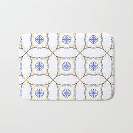Azulejo Luso - Portuguese Tiles yellow Bath Mat