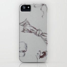 Bow study iPhone Case