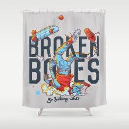 Broken Bones  Shower Curtain