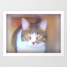 Golden Eyes Art Print