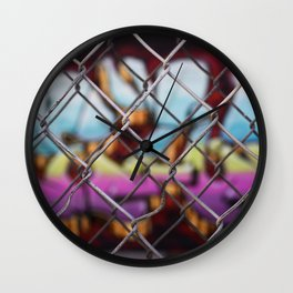 Denver Street Art Wall Clock