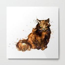 Cat series 2012: Pumpkin Puss Metal Print