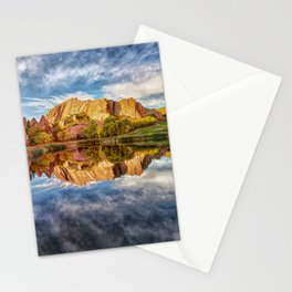Colorful Colorado Red Rocks Reflection  Stationery Cards