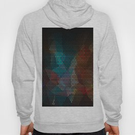 Abstract background of triangles polygon print. Bright dark design colors Hoody