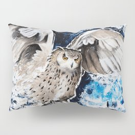 """Owl - Animal - """"I own the night..."""" by LiliFlore Pillow Sham"""