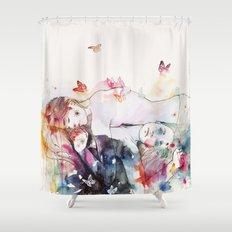 dreamy insomnia Shower Curtain