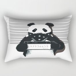 Arrested Panda Rectangular Pillow