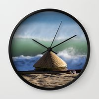hats Wall Clocks featuring Hats & Mats by jarjake