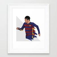 neymar Framed Art Prints featuring Neymar  by siddick49