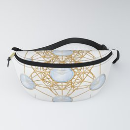 Tree of Life and Metatron Cube Synergy Fanny Pack