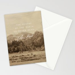 Keats: Poetry Stationery Cards