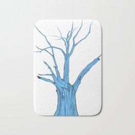 Old Blue Tree Bath Mat