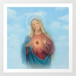 Our Lady Mary Berry Art Print